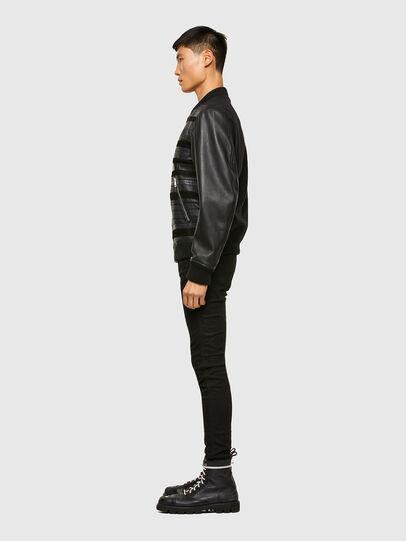Diesel - L-ROGER, Black - Leather jackets - Image 5
