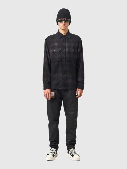 Diesel - S-JESS-DIP, Black/Violet - Shirts - Image 4