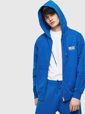 S-GIRK-HOOD-ZIP-LOGO, Blue - Sweaters