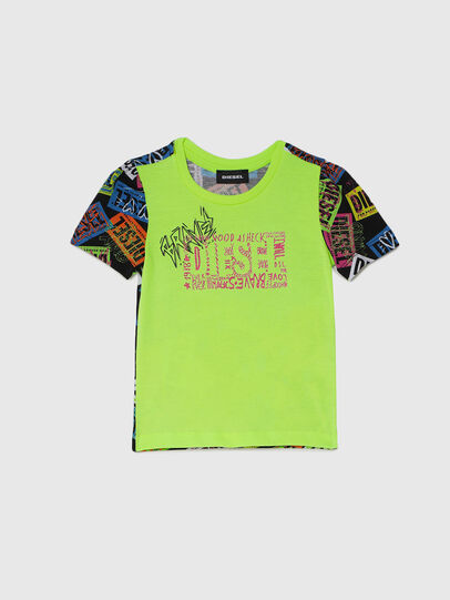 Diesel - TAIRB-R, Green/Black - T-shirts and Tops - Image 1