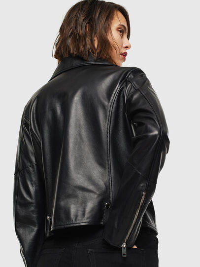 Diesel - L-LYFA, Black - Leather jackets - Image 2