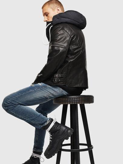 Diesel - L-TOVMAS, Black - Leather jackets - Image 7
