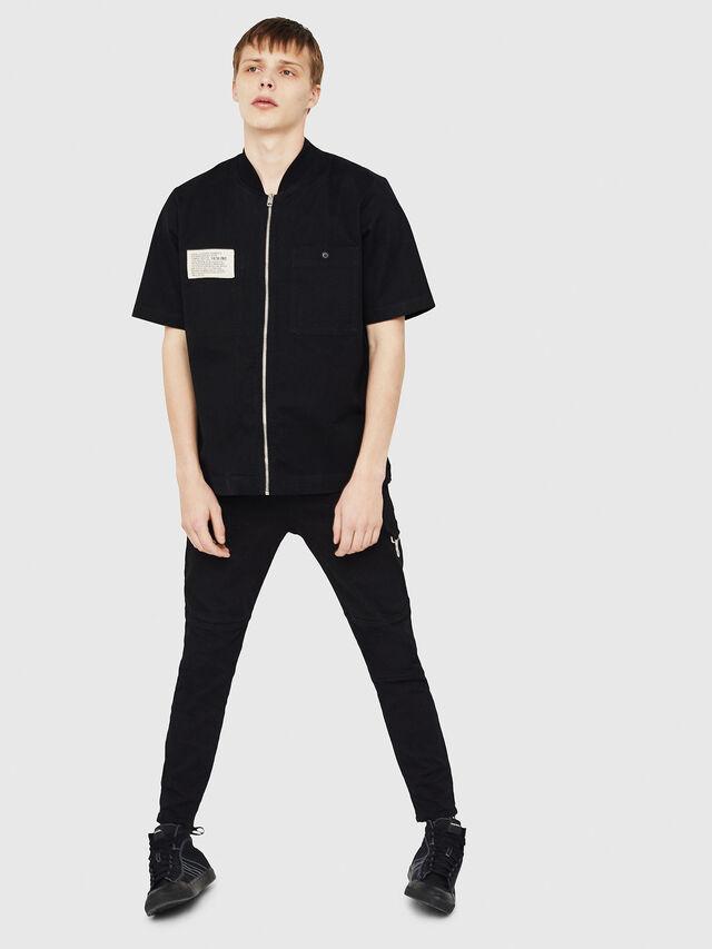 Diesel - S-DRINA, Black - Shirts - Image 5