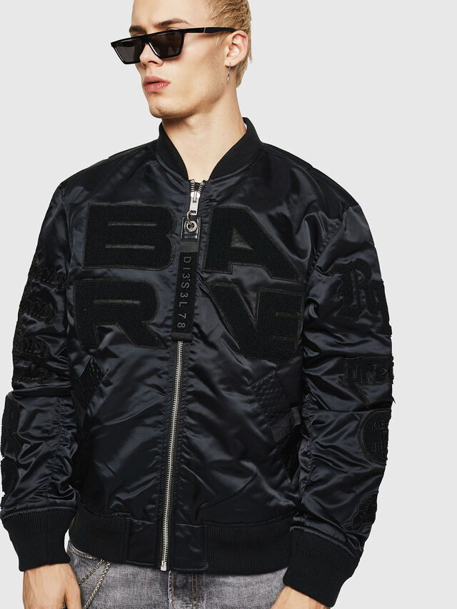 Diesel - J-IWAHO-LIGHT, Black - Jackets - Image 1