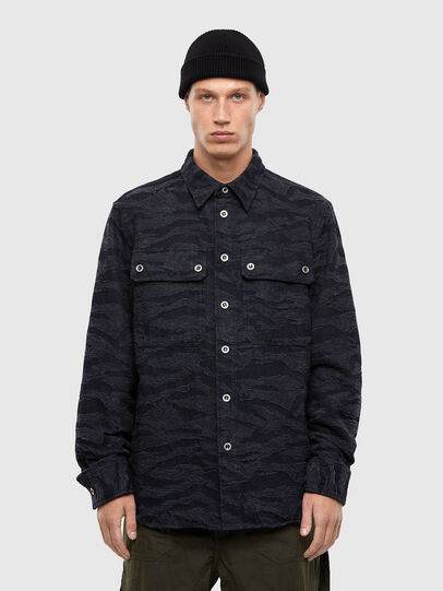 Diesel - D-JESSY-SP, Black/Blue - Denim Shirts - Image 1