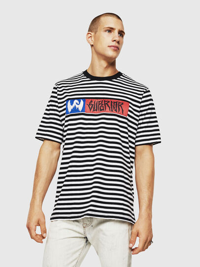 Diesel - T-VIKTOR, Black/White - T-Shirts - Image 1