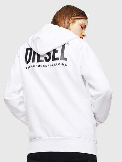 Diesel - S-GIRK-HOOD-ZIP-LOGO, White - Sweaters - Image 4