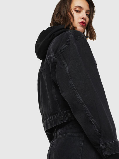Diesel - DE-CATY, Black - Denim Jackets - Image 3