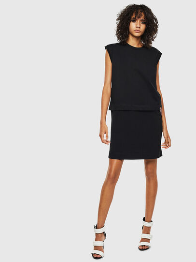 Diesel - D-HATTER, Black/White - Dresses - Image 1