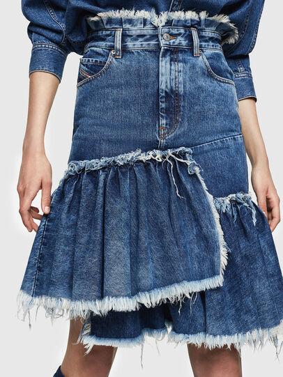Diesel - DE-ALAYNA, Medium blue - Skirts - Image 1
