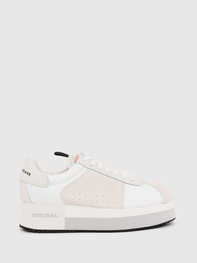 Diesel - S-PYAVE WEDGE, White/Pink - Sneakers - Image 1
