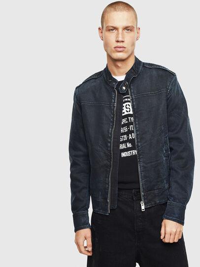 Diesel - D-JEI JOGGJEANS, Dark Blue - Denim Jackets - Image 7