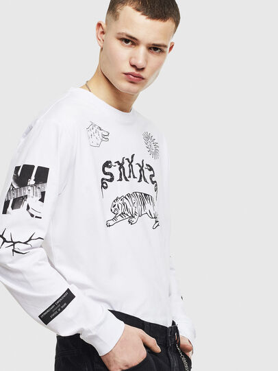 Diesel - T-JUSTLY, White - T-Shirts - Image 6