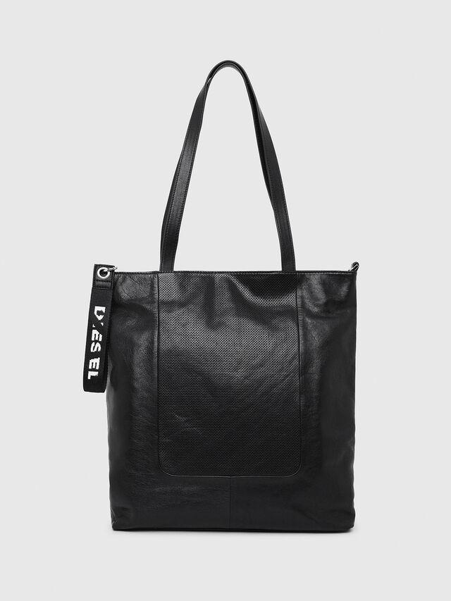 Diesel - L-TOLLE SHOPPER E/W, Black - Shopping and Shoulder Bags - Image 1