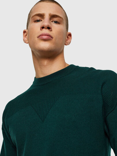 Diesel - K-LETO, Dark Green - Knitwear - Image 3