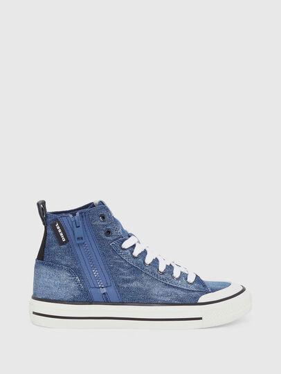 Diesel - S-ASTICO MID ZIP W, Blue Jeans - Sneakers - Image 1
