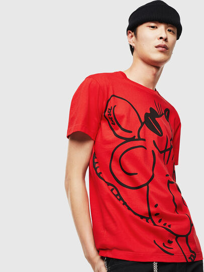 Diesel - CL-T-DIEGO-2, Red - T-Shirts - Image 1