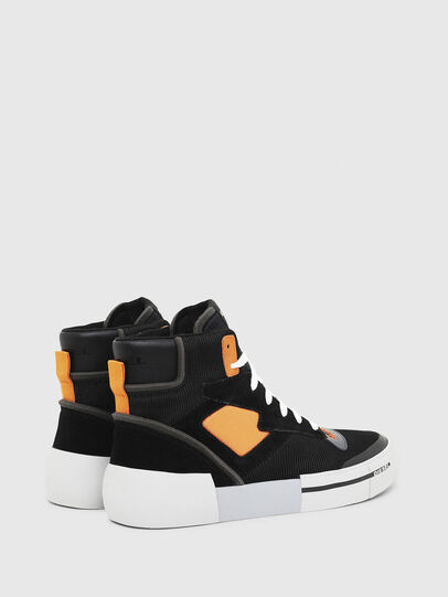Diesel - S-DESE MS, Black/Orange - Sneakers - Image 3