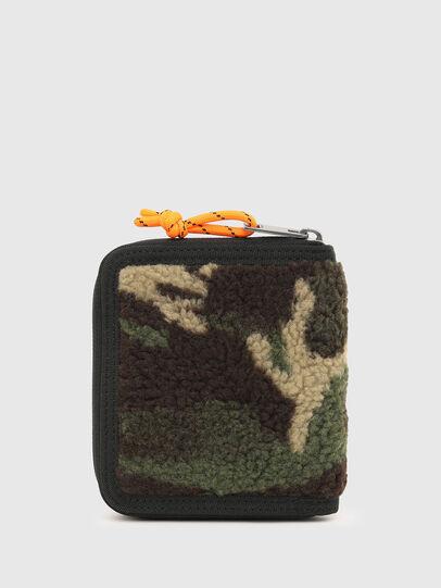 Diesel - PI-ZIP, Green Camouflage - Zip-Round Wallets - Image 2