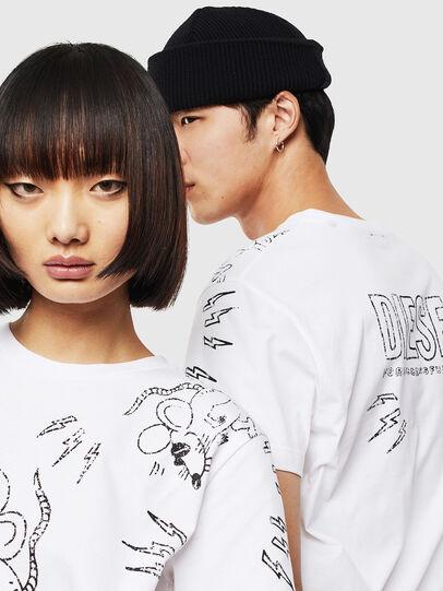 Diesel - CL-T-DIEGO-3, White - T-Shirts - Image 4