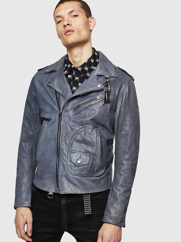 L-KIOV, Blue - Leather jackets