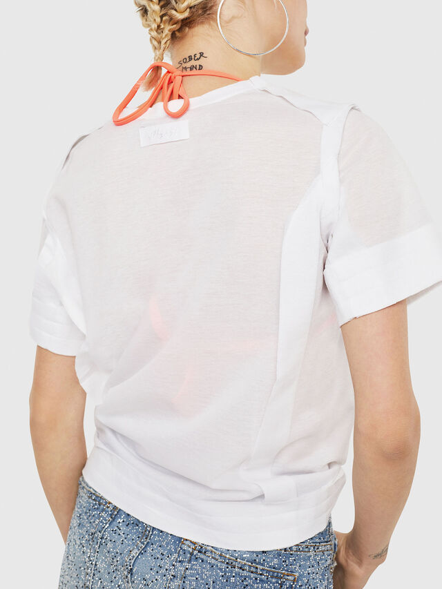 Diesel - T-ROCK-A, White - T-Shirts - Image 3