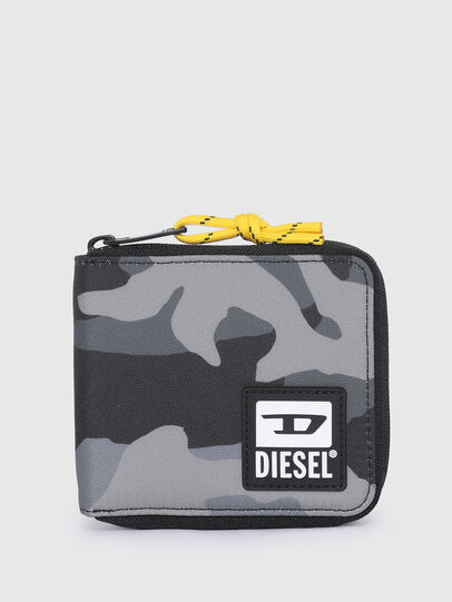 Diesel - ZIPPY HIRESH S II, Grey/Black - Zip-Round Wallets - Image 1