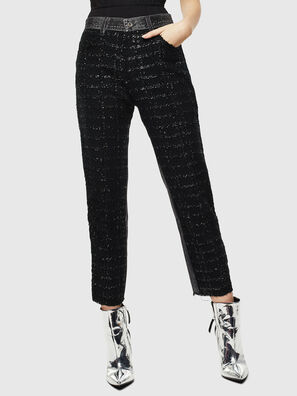 P-GITTE-NEW, Black/Dark grey - Pants