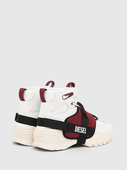 Diesel - S-SHARQUEZ MID, White/Red - Sneakers - Image 3