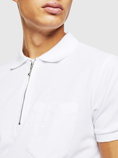 Diesel - T-POLZIP-POCKETS-J1, White - Polos - Image 3