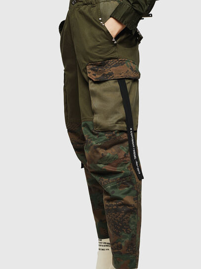 Diesel - P-THENA-A, Green Camouflage - Pants - Image 4