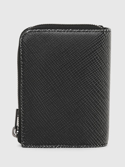Diesel - L-12 ZIP, Black/White - Zip-Round Wallets - Image 2