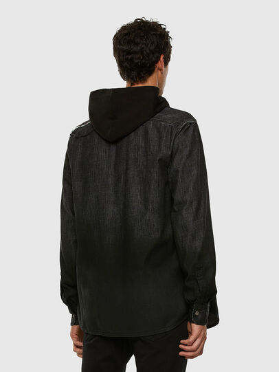 Diesel - D-NESKY, Black - Denim Shirts - Image 6