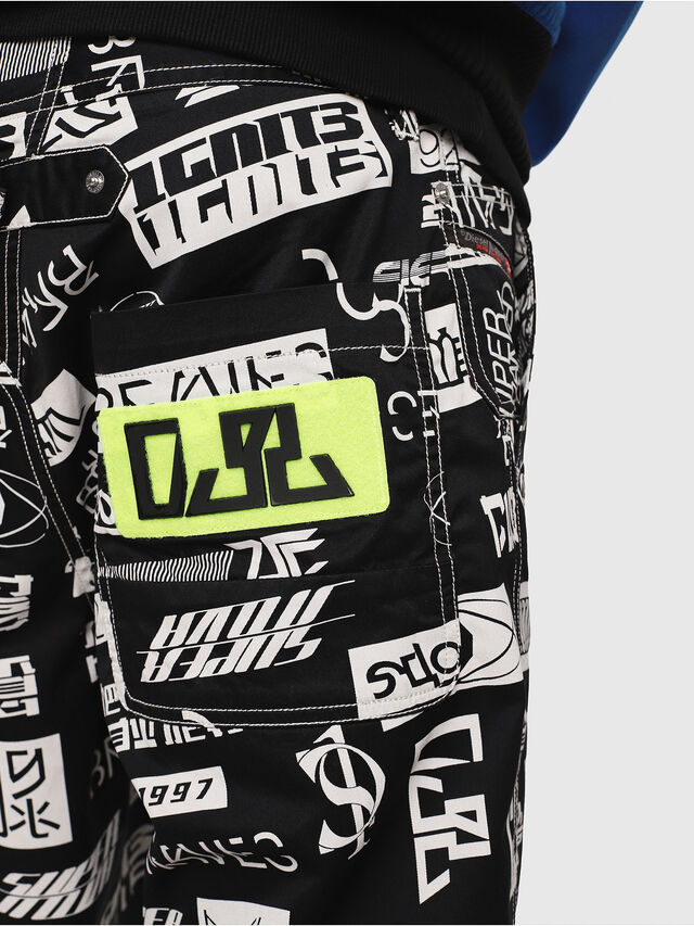 Diesel - P-FRANK-DNM-SHORT-P, Black/White - Shorts - Image 4