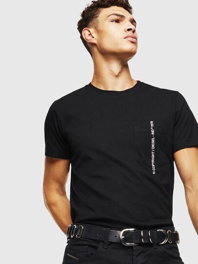 Diesel - T-RUBIN-POCKET-J1, Black - T-Shirts - Image 4