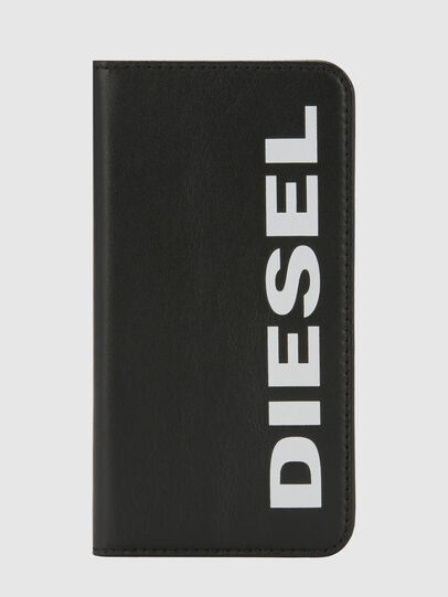 Diesel - SLIM LEATHER FOLIO IPHONE 8/7, Black - Flip covers - Image 6