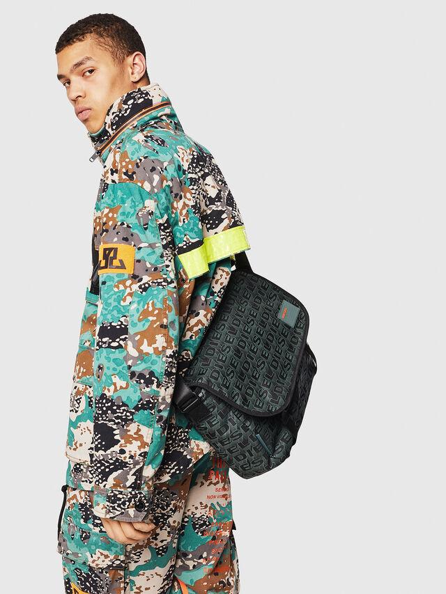 Diesel - F-DISCOVER MESSENGER, Black/Green - Travel Bags - Image 6