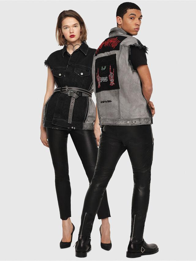 Diesel - D-VINNY-B, Black/Dark grey - Denim Jackets - Image 5
