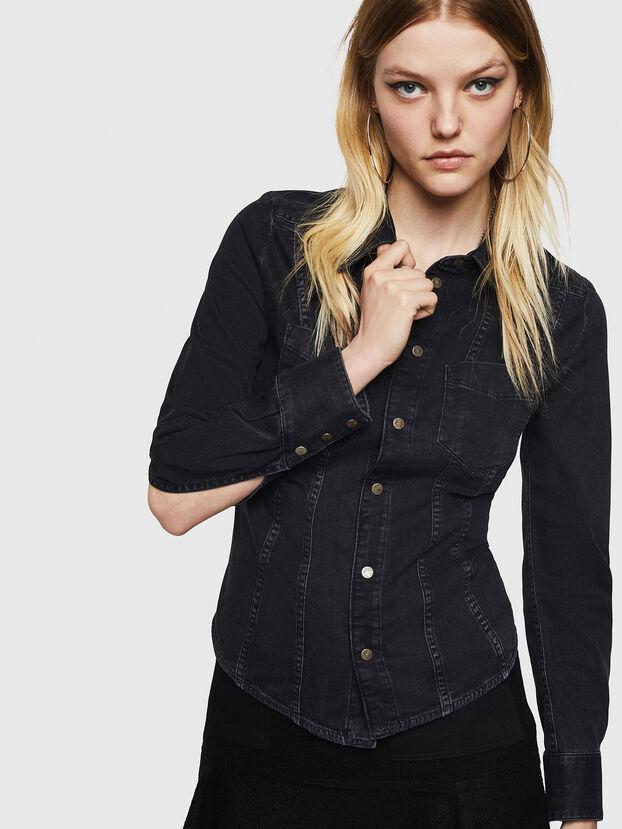 DE-FLYP, Black/Dark grey - Denim Shirts