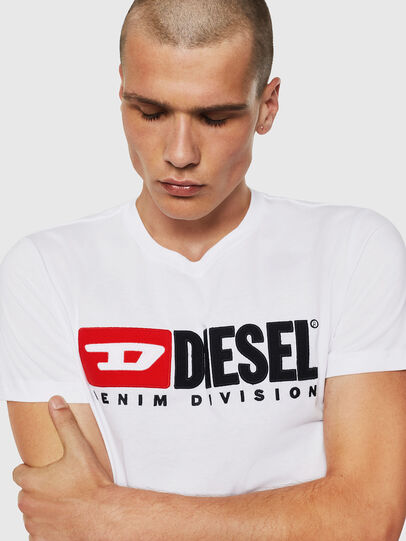 Diesel - T-DIEGO-DIVISION, White - T-Shirts - Image 3