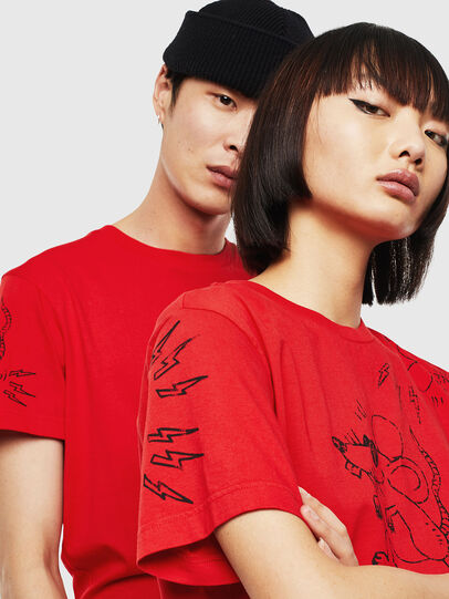 Diesel - CL-T-DIEGO-3, Red - T-Shirts - Image 4
