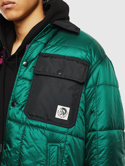 Diesel - J-WELLES, Green - Winter Jackets - Image 3