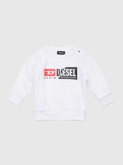 Diesel - SGIRKCUTYB, White - Sweaters - Image 1