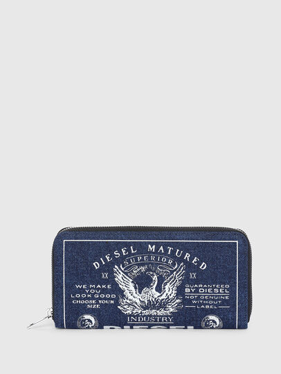 Diesel - 24 ZIP, Blue - Zip-Round Wallets - Image 1