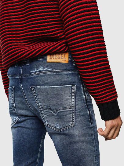 Diesel - Krooley JoggJeans 0096M, Dark Blue - Jeans - Image 4