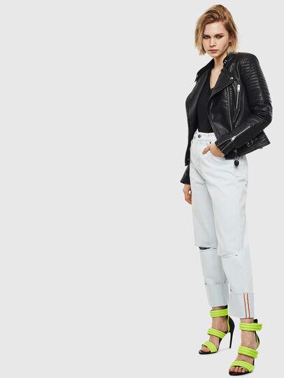 Diesel - L-IGE-NEW, Black - Leather jackets - Image 7