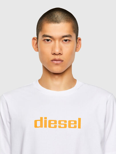 Diesel - T-JUST-N45, White - T-Shirts - Image 3
