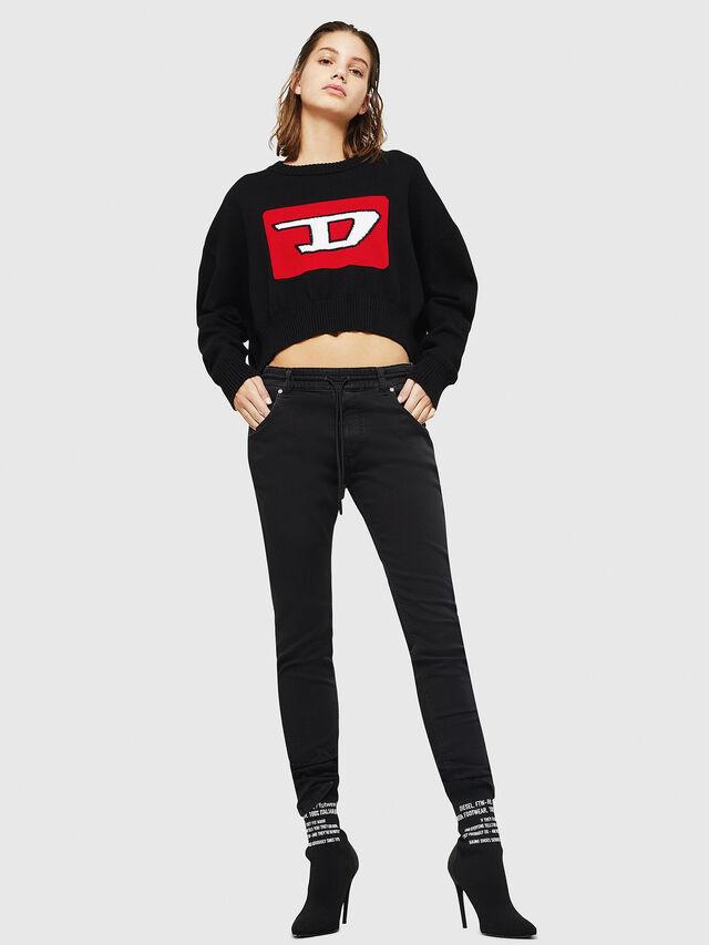 Diesel - Krailey JoggJeans 0687Z, Black/Dark grey - Jeans - Image 5