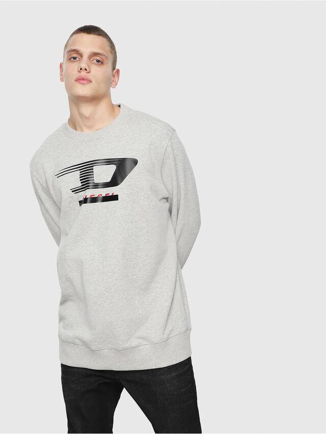 Diesel - S-GIR-Y4, Light Grey - Sweaters - Image 1