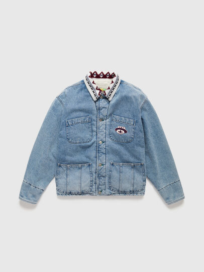 Diesel - DxD-J4, Light Blue - Denim Jackets - Image 1